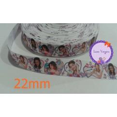 violetta blanca corazones 22mm