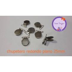 clip chupetero redondo plano 25mm