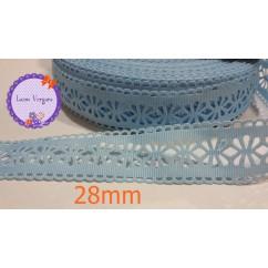 cinta perforada  celeste 28mm
