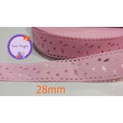 cinta perforada rosa 28mm