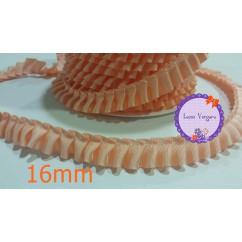 cinta plisada falla 16mm rosa salmon