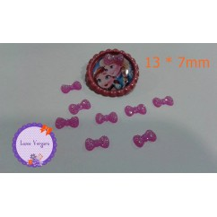 lacitos 13 * 7mm fucsia
