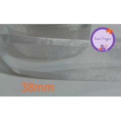 cinta organza 38mm blanco