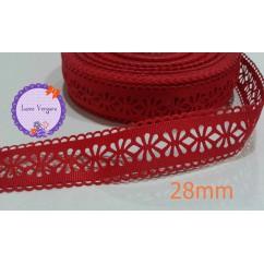 cinta perforada roja 28mm