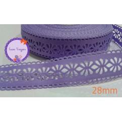 cinta perforada lila 28mm