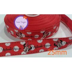minnie roja lunar blanco 25mm