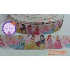 princesa rosa blanca 22mm
