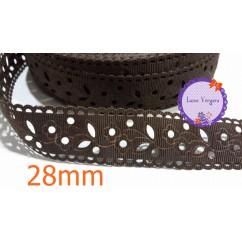 cinta perforada marron 28mm