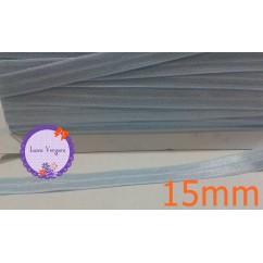 cinta elastica 15mm celeste