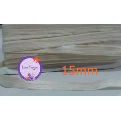 cinta elastica 15mm beige