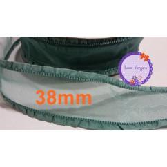 cinta organza 38mm verde moda