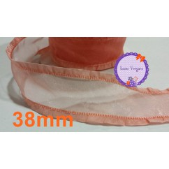 cinta organza 38mm salmon