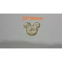 minnie brillante beige 22*30mm