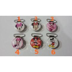 clips chupetero Minnie & Mickey 25mm