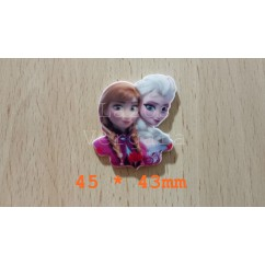 frozen elsa anna 45*43mm