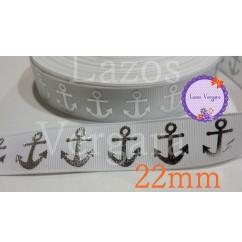 marinera blanca/plata 22mm