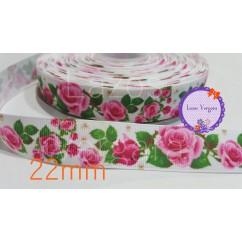 flores rosas 22mm