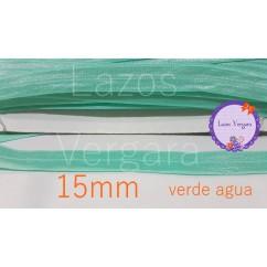 cinta elastica 15mm VERDE AGUA