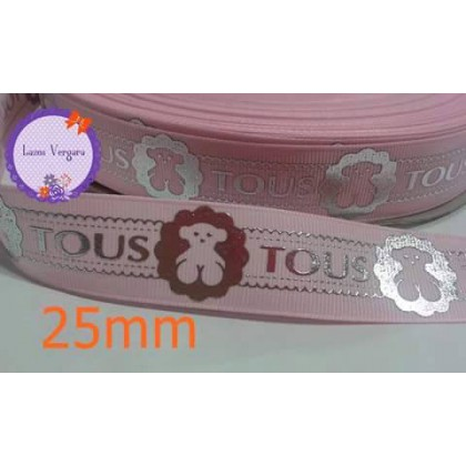 rosa plata 25mm