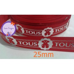 rojo/plata 25mm