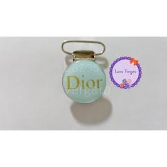 clip dior celeste/dorado 25mm