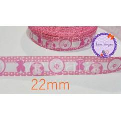 osito rosa blanco 22mm