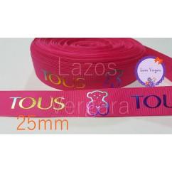 rosa fucsia tornasol 25mm