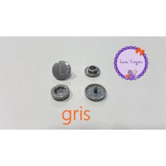 pack 10 snaps gris