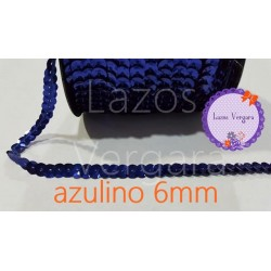 cinta lentejuela 6mm AZULINO