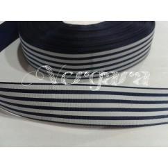 rayas marino/blanco