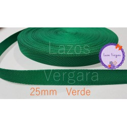 Cinta mochila canva 25mm VERDE