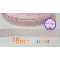 Cinta Mochila Canva 25mm ROSA