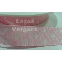 lunares rosa/blanco
