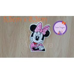 Parche Minnie rosa 8,3cm x 5,5cm