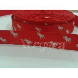 caballo rojo/blanco 22mm