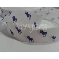 caballo blanco/morado 22mm