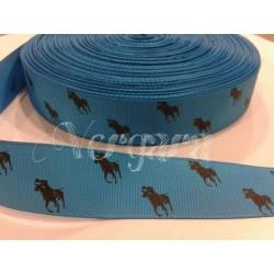caballo turquesa/negro 22mm