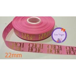 CH rosa/dorada 22mm