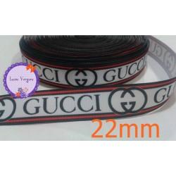 cinta gucci blanco-rojo-gris 22mm