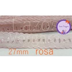 pasacinta bordado 27mm ROSA