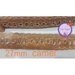 pasacinta bordado 27mm CAMEL