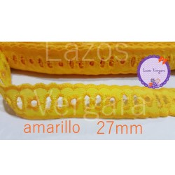 pasacinta bordado 27mm AMARILLO
