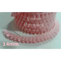 plisado 14mm rosa