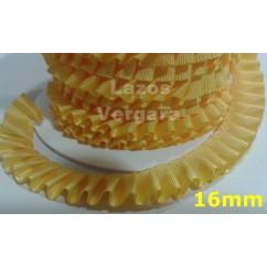 plisado 16mm amarillo