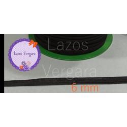 ELASTICO NEGRO 6mm FLOJITO PARA MASCARILLAS