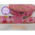 Cinta peppa pig 1....25mm