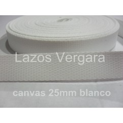 Cinta Mochila Canva 25mm BLANCO