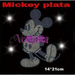 mickey plata transfer strass 14cm x 21cm
