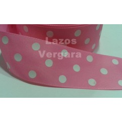 lunares rosa chicle/blanco 38mm